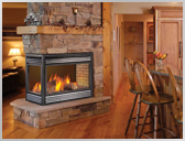 BGD40 Peninsula Fireplace