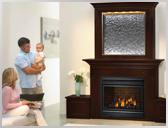 GD36 Combination Waterfall Mantel Fireplace